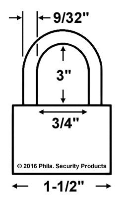 Made in USA 52730 Brass Padlock