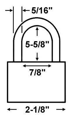 Master Lock 6121LN All Weather Padlock