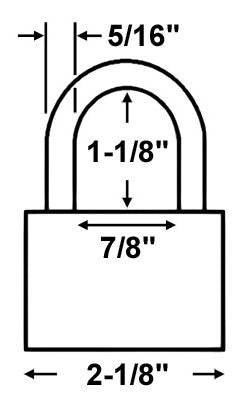 Master Lock 6121 All Weather Padlock