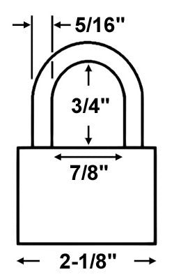 Master Lock 6321 All Weather Shrouded Padlock