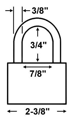 Master Lock 6325 All Weather Shrouded Padlock