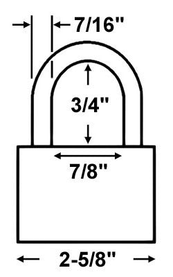 Master Lock 6327 All Weather Shrouded Padlock