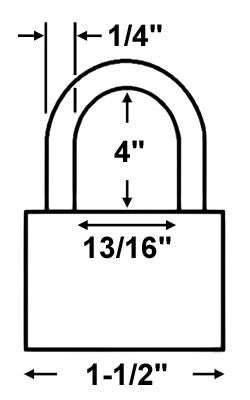 Abus Lock 72/40HB100 Safety Lockout Padlock