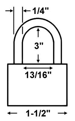Abus Lock 72HB/40-75 Safety Lockout Padlock