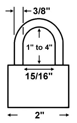 Abus Lock 83/50 Rekeyable Door Key Compatible Padlock