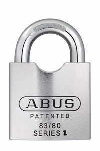 Abus Lock 83/80 Rekeyable Door Key Compatible Padlock