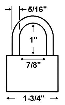 Abus Lock 83CS/45 Rekeyable Door Key Compatible Padlock