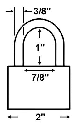 Abus Lock 83CS/50 Rekeyable Door Key Compatible Padlock