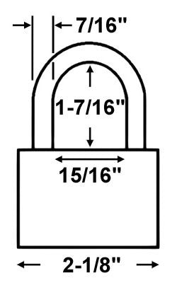 Abus Lock 83CS/55 Rekeyable Door Key Compatible Padlock