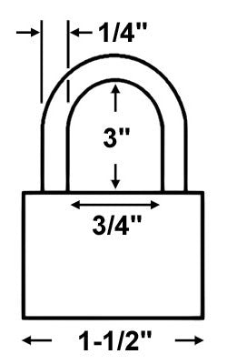 American Lock A1107 Safety Lockout Padlock