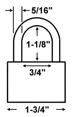 American Lock A1205 Safety Lockout Padlock