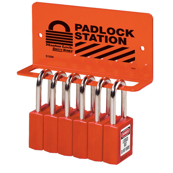 Master Lock S1506 Small Padlock Rack, Unfilled