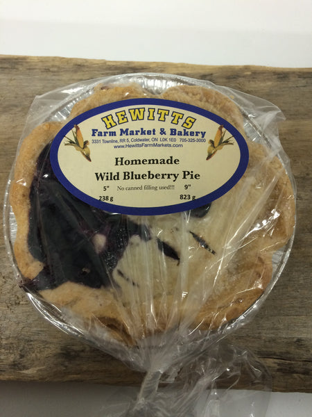 "Homemade Wild Blueberry Pie - Small 5"" (serves 1-2)"
