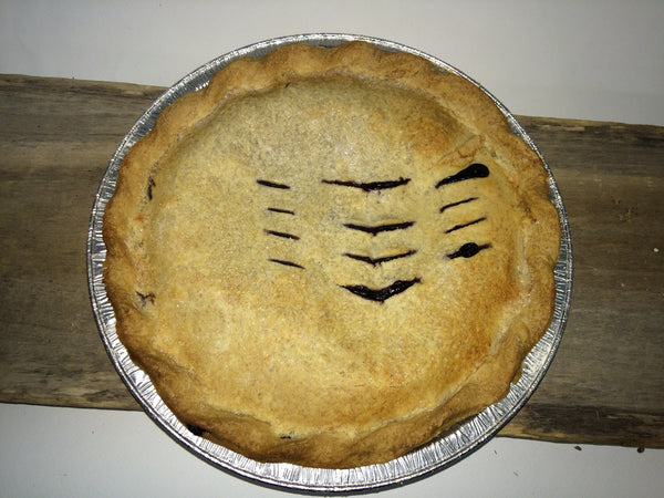 "Homemade Wild Blueberry Pie - Large 9"" Ready-made (serves 4-6)"