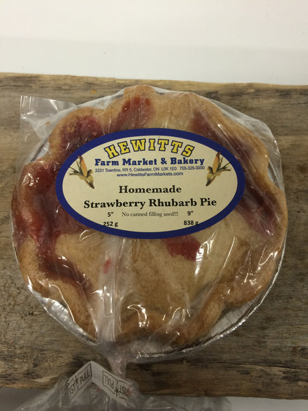 "Homemade Strawberry Rhubarb Pie - Small 5"" (serves 1-2)"