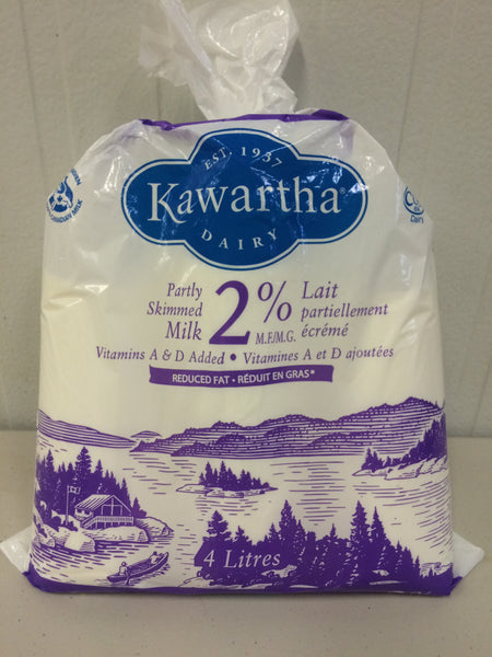 Kawartha Dairy Milk 2% - 4L Bag