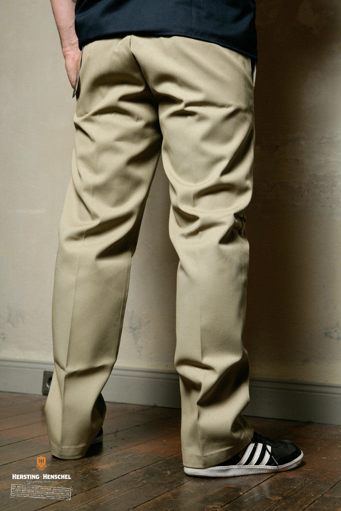 Dickies 873 Slim Straight Work Pant, Khaki - Dark Union