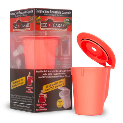 Perfect Pod EZ-Carafe® Reusable Refillable Single-Serve Coffee Capsule Cup Image 1