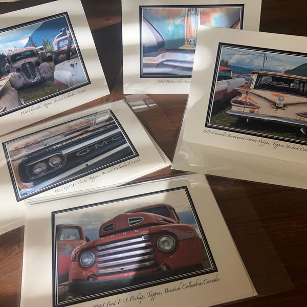 Antique Trucks & Cars Greeting Card Set
