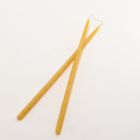 Pure Beeswax Thin Candles - Thin Taper