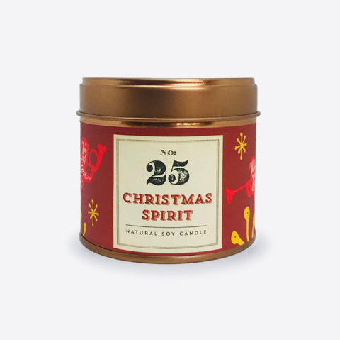 No.25 Christmas Spirit Tinned Soy Candle - Christmas Edition