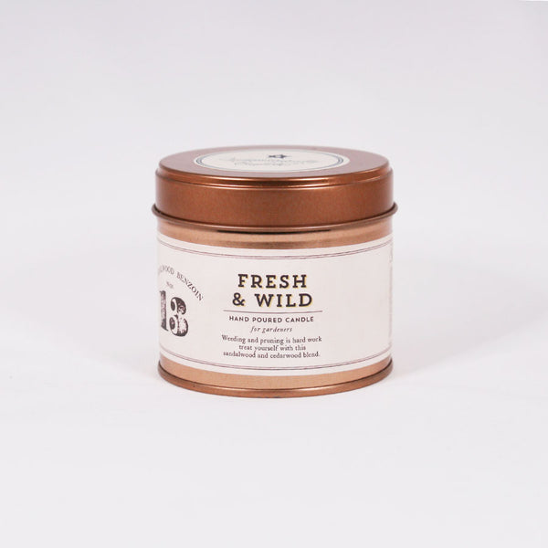 No: 13. Fresh & Wild Tinned Soy Candle - For Gardeners