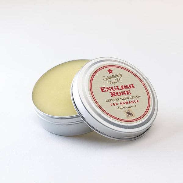 No.2 English Rose Beeswax Hand Cream in a tin