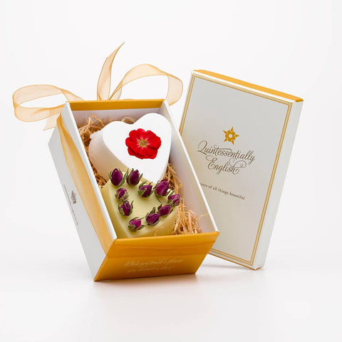 No.2 English Rose Soap and Bath Bomb Heart Gift Box