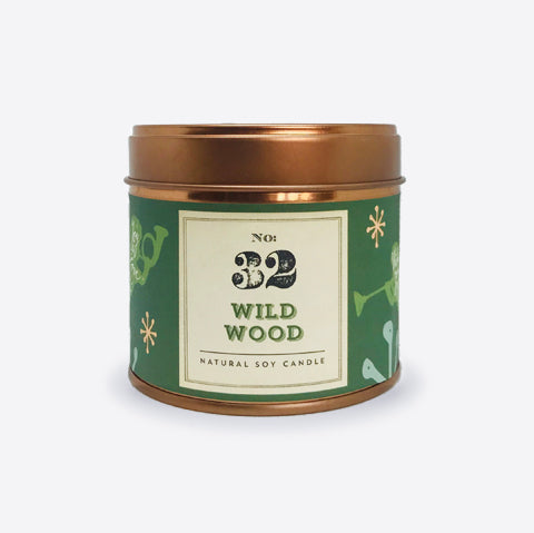 No.32 Wild Wood Tinned Soy Candle - Christmas Edition