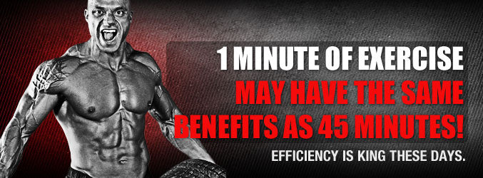 1 Minute of Exercise May Have The Same Benefits as 45 Minutes!