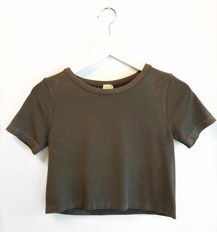 Cropped bamboo t-shirt