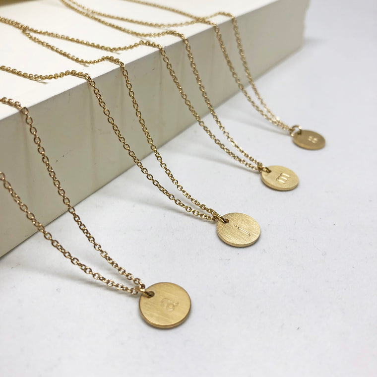 Monogramed Letter Necklace