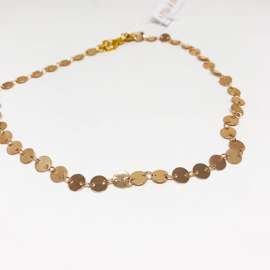 Gold Dotted Choker