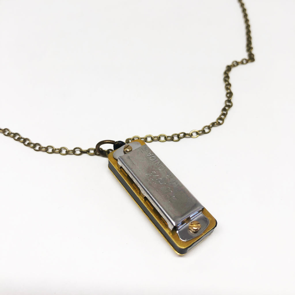 Tiny Harmonica Necklace