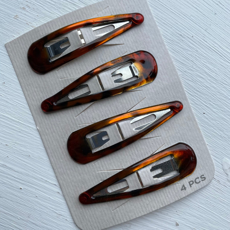 Tortoise shell snap clips