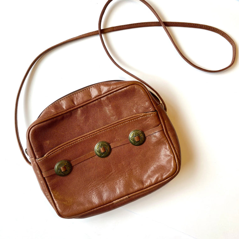 Brown western detail purse