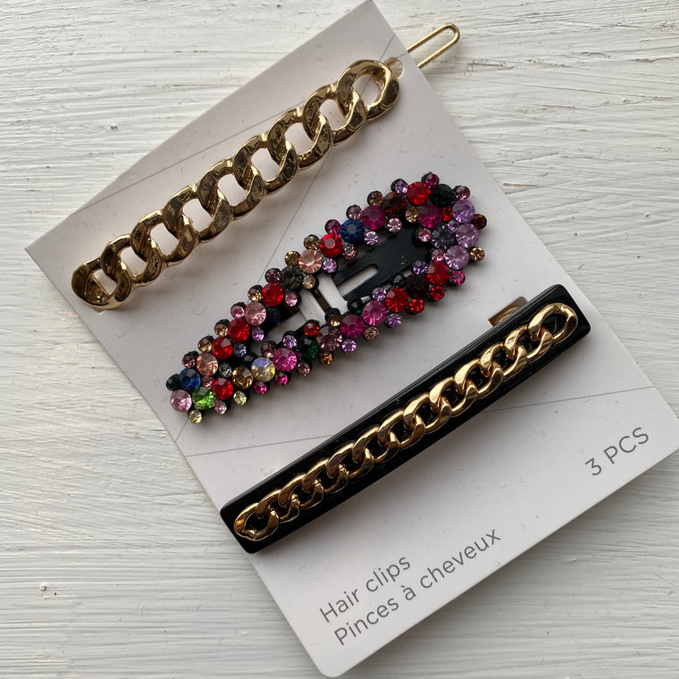 Sparkle hair clip set