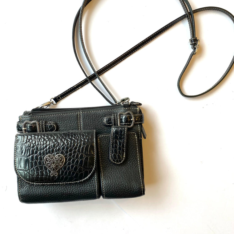 Brighton small black organizer purse