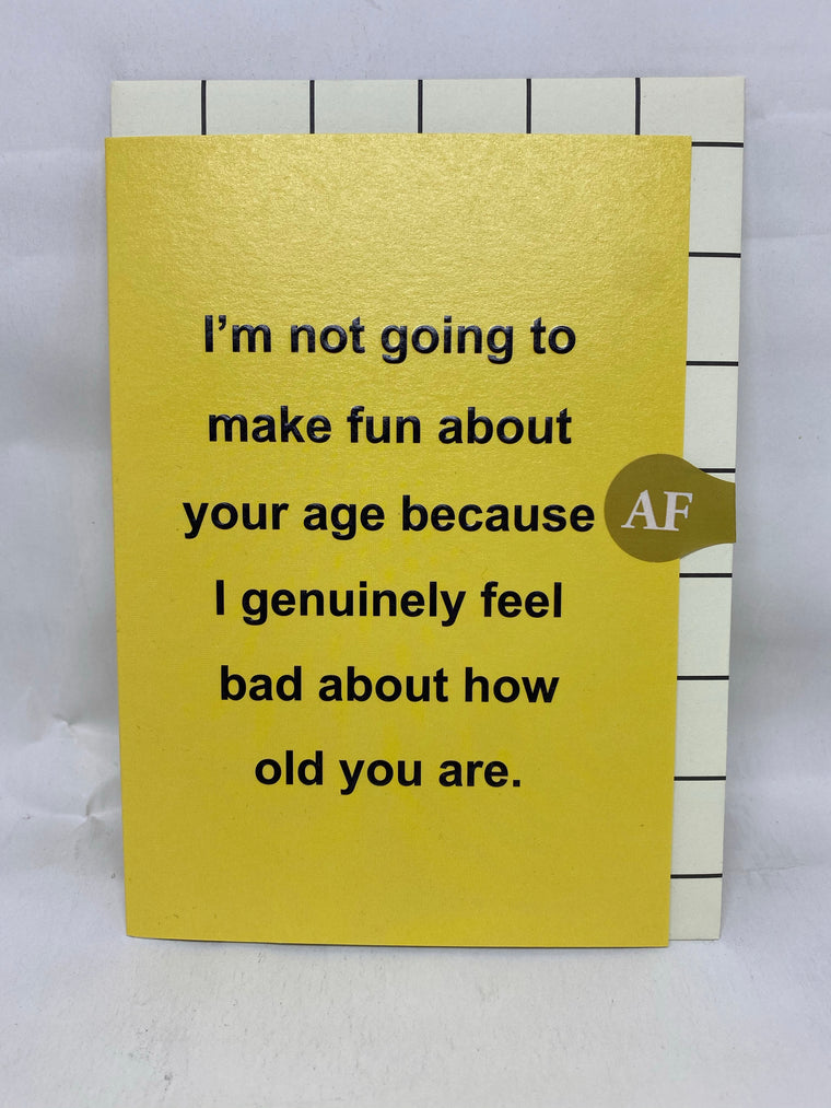 Not going to make fun card