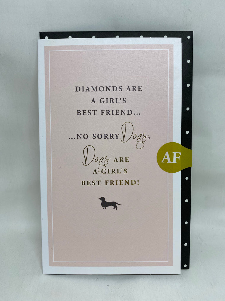A girls best friend card
