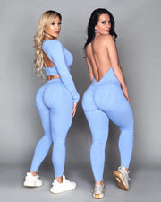 Baby Blue Bum Bum Pocket Bodysuit