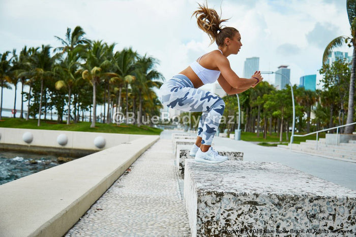 White Camouflage Light/Thick Supplex Leggings