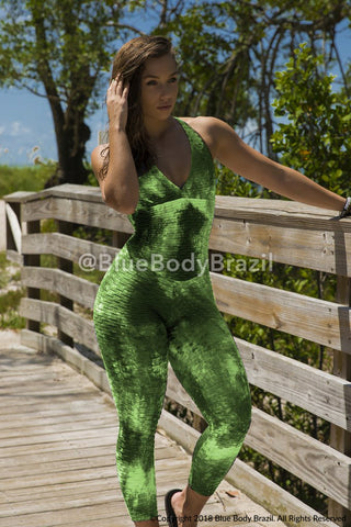 Green Panda Bodysuit (Scrunchy Supplex)