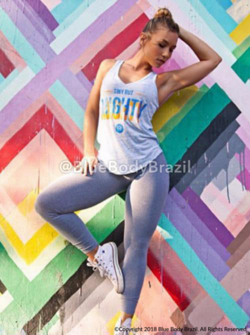 Gray Sensation Leggings (Thick Supplex)
