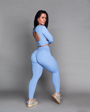 Baby Blue Pocket Bum Bum Leggings