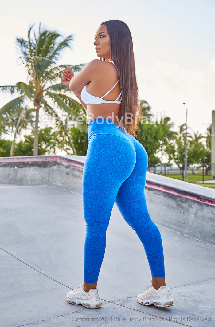 Blue Jaguar Leggings (Thick Supplex)