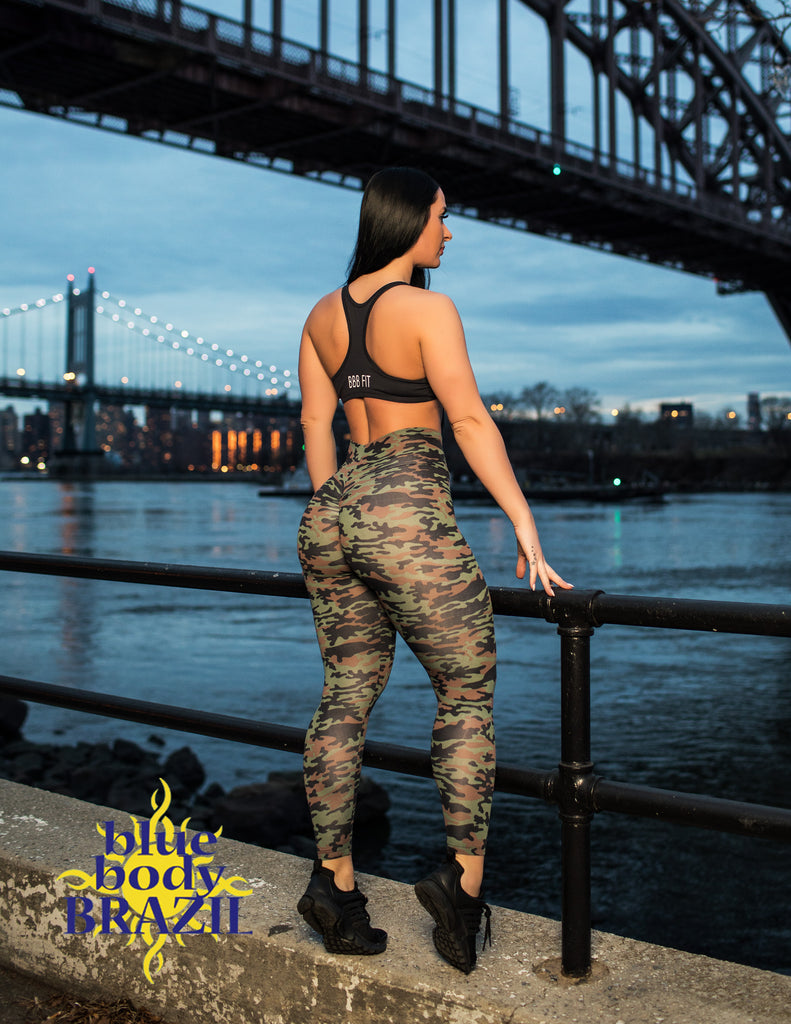 Brown Camo Leggings (Light Supplex)