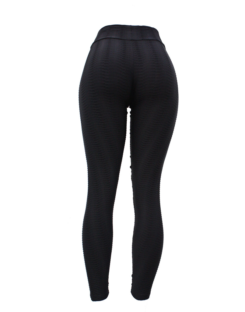 Black Leggings (Fish Scale)
