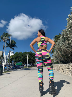 Rainbow Camo Leggings (Light Supplex)