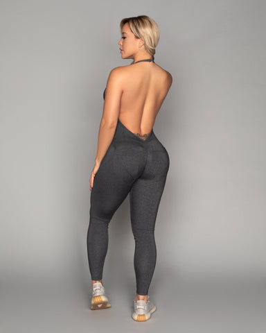 Heather Grey Bum Bum Pocket Bodysuit